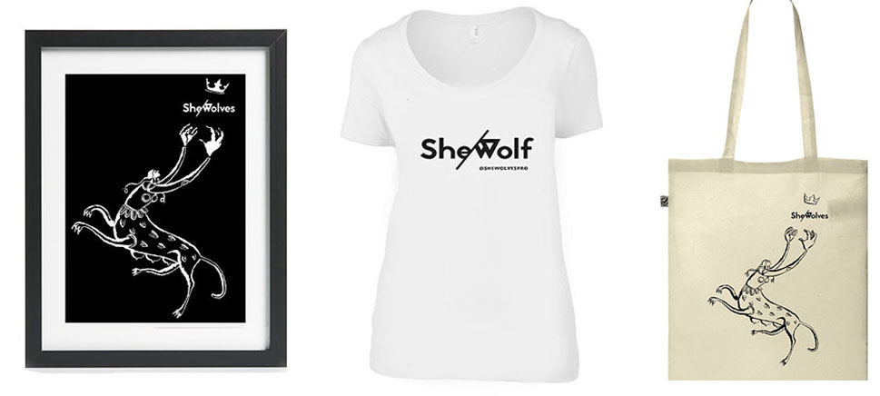 She-Wolves merchandise