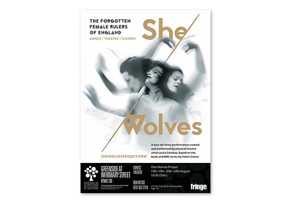 She-Wolves signed poster – Design by Marshall Light Studio